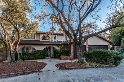 Las Vegas Single Family Home For Sale: 1845 Lindell Road