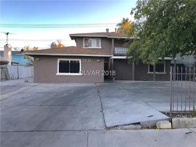 Las Vegas Single Family Home For Sale: 2571 Vegas Valley Drive