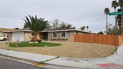 Single Family Home For Sale: 3600 Fortune Avenue