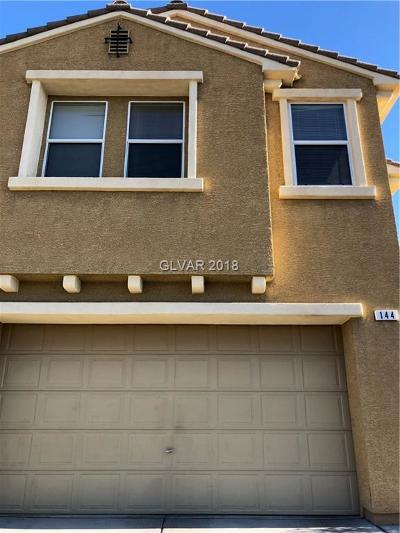 Las Vegas Single Family Home For Sale: 144 Red Tee Lane