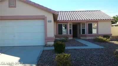North Las Vegas Single Family Home Under Contract - No Show: 325 Casa Del Norte Drive