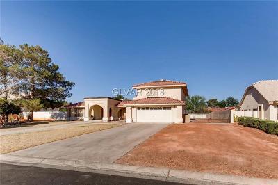 Blue Diamond, Boulder City, Henderson, Las Vegas, North Las Vegas, Pahrump Single Family Home For Sale: 7470 Rancho Destino Road