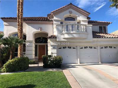 Las Vegas Single Family Home Under Contract - No Show: 1809 Corta Bella Drive