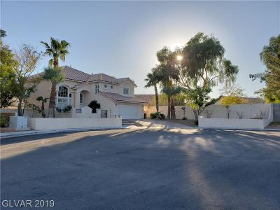 Las Vegas Single Family Home For Sale: 6337 Echo Canyon Circle