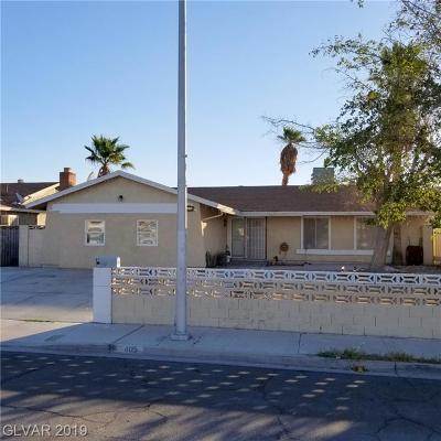 Las Vegas NV Single Family Home For Sale: $255,000