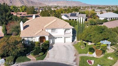 Las Vegas Single Family Home For Sale: 4125 Mansion Hall Court