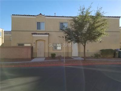North Las Vegas Condo/Townhouse For Sale: 6328 Rolling Rose Street #101