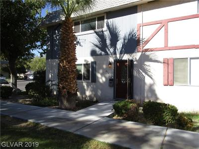 Las Vegas NV Condo/Townhouse For Sale: $168,000