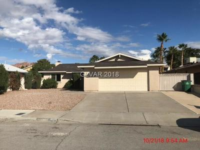 Boulder City Single Family Home Under Contract - No Show: 870 Montera Lane