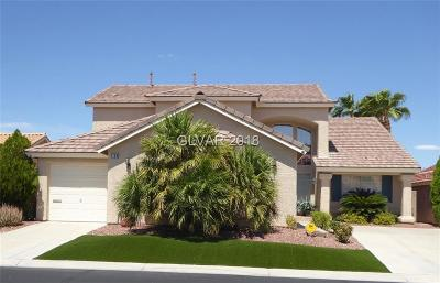 Las Vegas Single Family Home For Sale: 2180 Vista Famosa Court