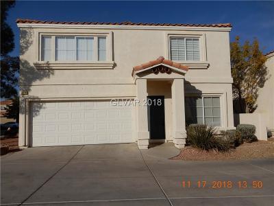 Las Vegas Single Family Home For Sale: 3314 Cheltenham Street