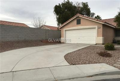 North Las Vegas Single Family Home For Sale: 3210 Fontana Colony Court