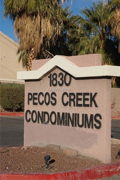 North Las Vegas Condo/Townhouse For Sale: 1830 Pecos Road #144