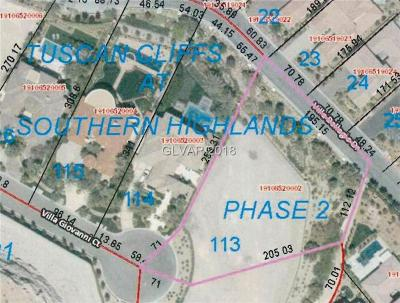 Las Vegas Residential Lots & Land For Sale: 11390 Villa Giovanni Court