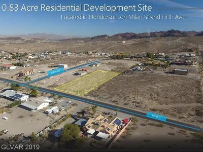 Henderson Residential Lots & Land For Sale: Firth Ave And Milan St