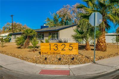 Las Vegas Single Family Home For Sale: 1325 Cahlan Drive