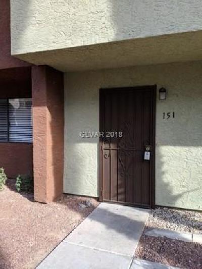 Las Vegas NV Condo/Townhouse For Sale: $125,000
