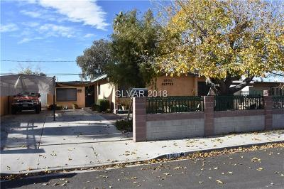 Las Vegas Single Family Home For Sale: 1301 Sattes Street