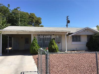 Las Vegas Single Family Home For Sale: 1917 Willoughby Avenue