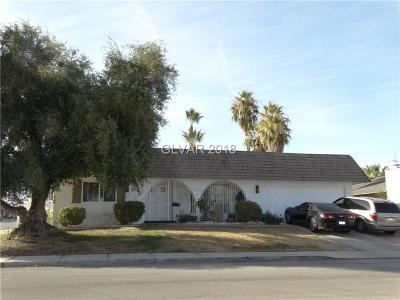 Las Vegas Single Family Home For Sale: 3661 Monte Verde Street