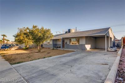 Las Vegas Single Family Home For Sale: 1824 Hassett Avenue