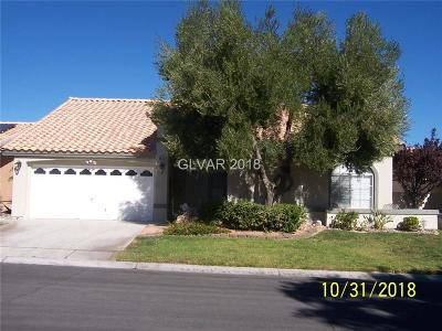 Las Vegas Single Family Home For Sale: 8846 Fort Crestwood Drive