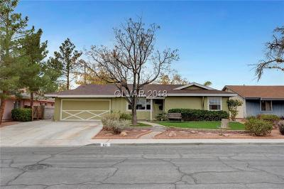 Las Vegas Single Family Home For Sale: 621 Mayfield Street