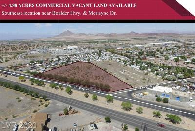 Henderson Residential Lots & Land For Sale: Boulder Hwy And Sunset Rd