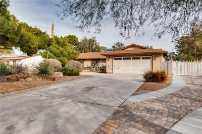 Las Vegas Single Family Home For Sale: 3733 Bradley Road