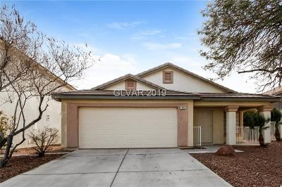 Henderson Single Family Home Under Contract - No Show: 609 Saddle Rider Court