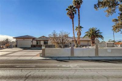 Las Vegas Single Family Home For Sale: 6275 Gowan Road