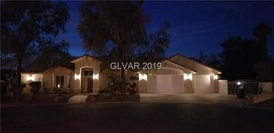 Las Vegas Single Family Home For Sale: 4885 Tioga Way