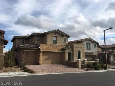 Las Vegas Single Family Home For Sale: 270 Castellari Drive
