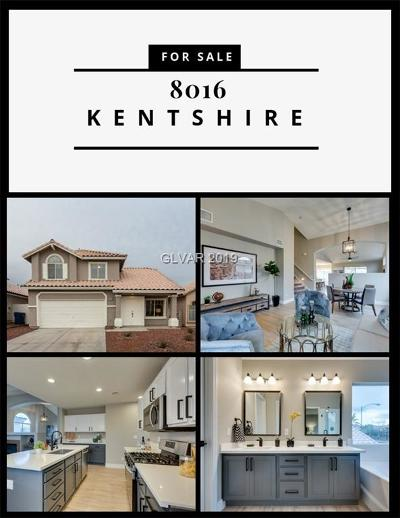 Las Vegas Single Family Home For Sale: 8016 Kentshire Drive