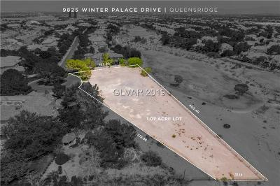 las vegas Residential Lots & Land For Sale: 9825 Winter Palace Drive