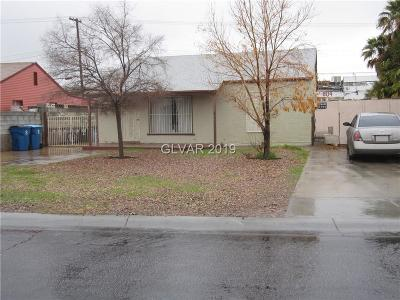 Las Vegas Single Family Home For Sale: 801 1st Street