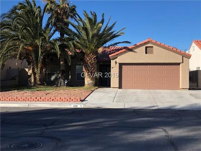 North Las Vegas Single Family Home For Sale: 4311 Famoso Drive