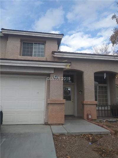 Las Vegas Single Family Home For Sale: 1453 Iron Springs Drive