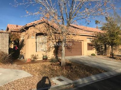 Las Vegas Single Family Home For Sale: 801 Lexington Cross Drive