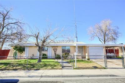 North Las Vegas Single Family Home For Sale: 3233 Bassler Street