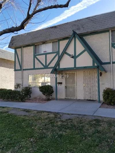 Las Vegas Condo/Townhouse For Sale: 317 Pecos Way
