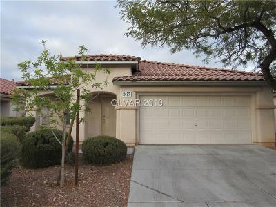 Las Vegas Single Family Home For Sale: 3482 Famiglia Drive