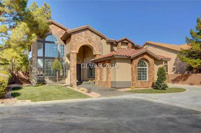 Las Vegas Single Family Home For Sale: 5406 San Bellasera Court
