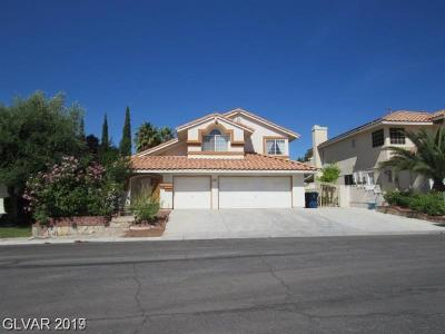 Las Vegas Single Family Home For Sale: 3465 Evening Sun Drive
