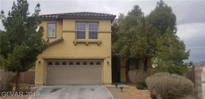 North Las Vegas Single Family Home For Sale: 5649 Champagne Flower Street