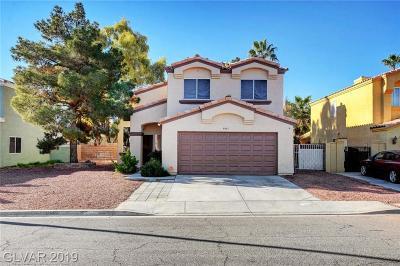 Las Vegas Single Family Home For Sale: 4465 Palm Grove Drive