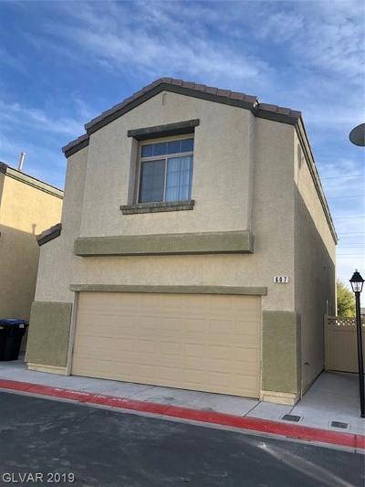 North Las Vegas Single Family Home For Sale: 607 Desert Silk Court