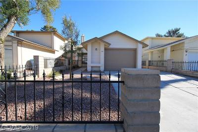 Las Vegas Single Family Home For Sale: 48 Sirnoble Street