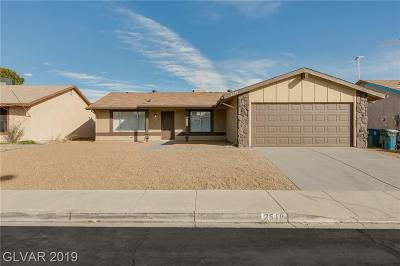 Las Vegas Single Family Home For Sale: 2518 Pine Creek Road