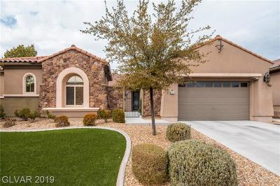 Henderson NV Single Family Home For Sale: $715,990